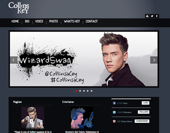 WordPress sample Collins Key America's Got Talent