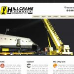 Web development for crane services